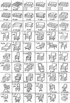 Sofa Yardage Chart Upholstery Yardage Chart Chairs Couches Sofas