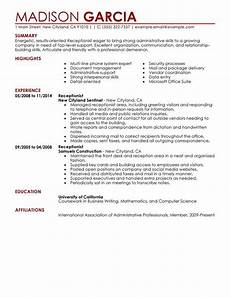 Receptionist Objective On Resume Receptionist Resume Sample Recipe With Images Job