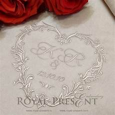 embroidery wedding machine embroidery design wedding monogram blank