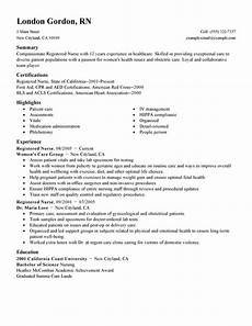 New Rn Resume Free Resume Examples By Industry Amp Job Title Livecareer