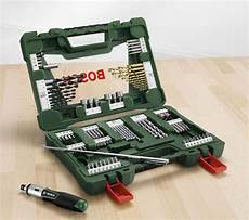 Bosch Werkzeugkoffer Zum bosch 91 teiliges v line titanium set zum bohren und