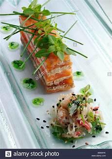 smoked salmon gourmet appetizers editorial food stock