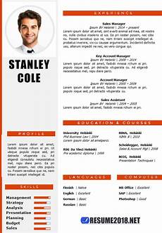 New Style Of Resumes Combination Resume Format 2018 Resume 2018