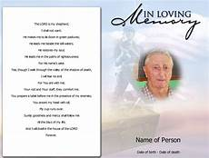 How To Make A Funeral Program Sample Obituary Poems