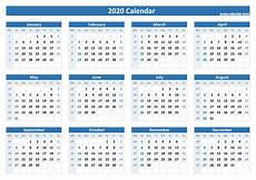 Week Calander Week Numbers For 2020 List And Calendar Calendar Best