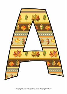 Fall Letters Template Autumn Letter A