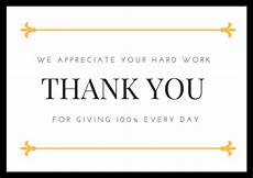 Employee Thank You Notes Employee Appreciation Thank You Cards Free Printables