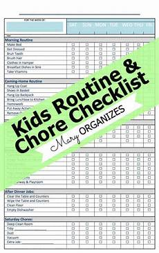 Chore List For Kids Free Kid S Routine And Chore Checklist Life Of A