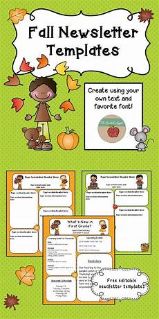 Fall Letters Template Free Fall Themed Newsletter Templates School Age