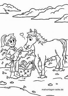 Malvorlagen Pferde Kinder Malvorlage Pferd Kostenlose Ausmalbilder