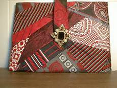 fabric crafts recycled clutch purse made from ties board has finished