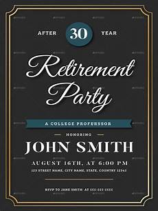 Retirement Party Invitation Template Free 18 Retirement Invitation Designs Amp Templates Psd Ai