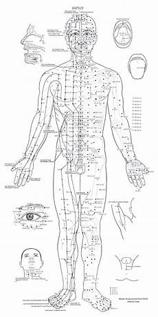 Spinal Pressure Points Chart Acupuncture Points Chart Front Relieve