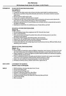 Sample Photography Resume Studio Photographer Resume Samples Velvet Jobs
