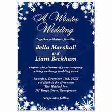 Winter Wedding Invitation Templates A Winter Wedding Invitation Dark Blue