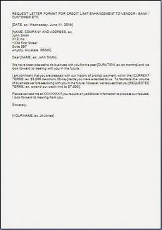 Letter For Increase Credit Limit Letter To Increase Credit Limit With Supplier