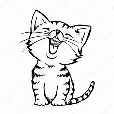 dibujos de gatos fotos gatitos dibujo dibujado a mano gato gatito