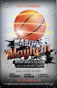 Basketball Tournament Program Template The Madness Begins Free 5 Basketball Flyers In Psd For