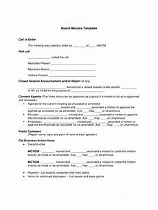 Board Meeting Templates Free Board Meeting Minutes Template 8 Free Templates In Pdf