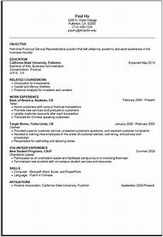 Resume For Part Time Job Student Part Time Resume Sample Career Center Csuf