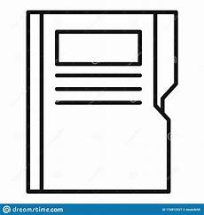 Paper Proofread Paper Proofread Icon Outline Style Stock Vector