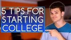 Tips For Starting College 5 Tips For Starting College Youtube