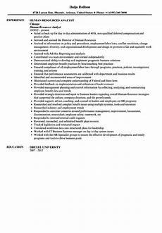 Experienced Hr Analyst Resume Human Resources Analyst Resume Sample Velvet Jobs