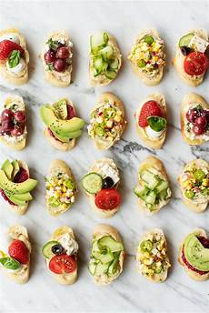 hummus crostini appetizers recipe and lemons