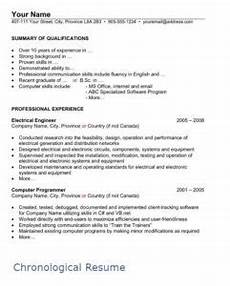 How To Write A Chronological Resume Sample Chronological Resume Page 1 Filipino Portal