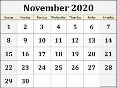 November 2020 Calendar Printable Free November 2020 Blank Calendar Templates