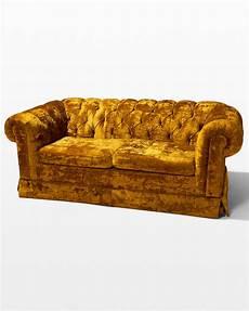 co050 honey velvet sofa prop rental acme