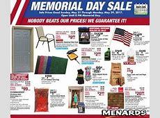 Menards Ad Deals May 21   29, 2017. Memorial Day Sale