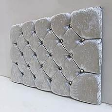fur home padded headboard bed in crushed velvet