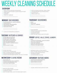 Printable Cleaning Schedule Template 7 Of The Best Free Printable Cleaning Schedules