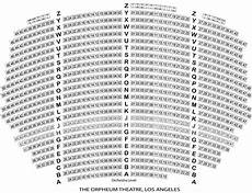 Shn Orpheum Theatre Virtual Seating Chart Seating Chart La Orpheum