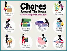 List Of House Chores We Love English Household Chores