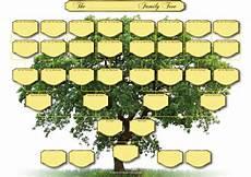 Three Generation Family Tree Chart A3 Blank Family Tree Charts