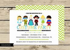 Costume Party Invites Costume Birthday Party Invitation Princess Ninja Pirate