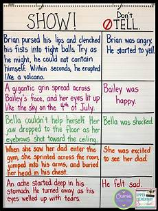 Sow Chart Show Don T Tell A Free Writing Lesson Upper Elementary