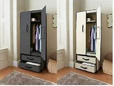 deluxe canvas wardrobe with opening doors drawer