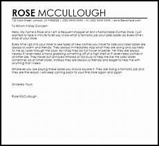 Letter Of Appreciation To Customer Customer Service Appreciation Letter Livecareer