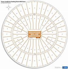 Frank Erwin Center Seating Chart Seat Numbers Frank Erwin Center Seating Charts For Texas Basketball