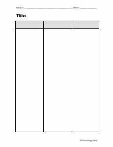 Three Column Chart Two Column Chart Freeology