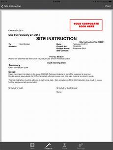 Site Instruction Book Format Keep Track Of Your Construction Jobsite Numbers With
