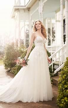 a line wedding dress with illusion lace bodice martina liana