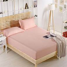 100 cotton solid bed sheets elastic mattress cover