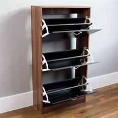 Vida Designs 2 Drawer Shoe Cabinet Cupboard Shoe Storage by Vida Designs Walnut And Black 3 Drawer Shoe Cabinet Wilko