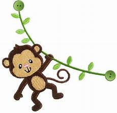 Monkey Design Instant Download Monkey Filled Stitches Machine Embroidery