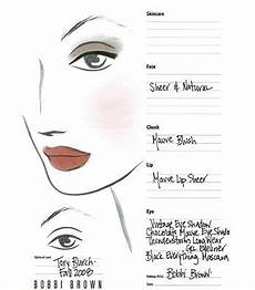 Face Chart Brown See The Inspiration Backstage Face Charts Instyle Com