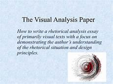 Visual Analysis Paper The Visual Analysis Paper